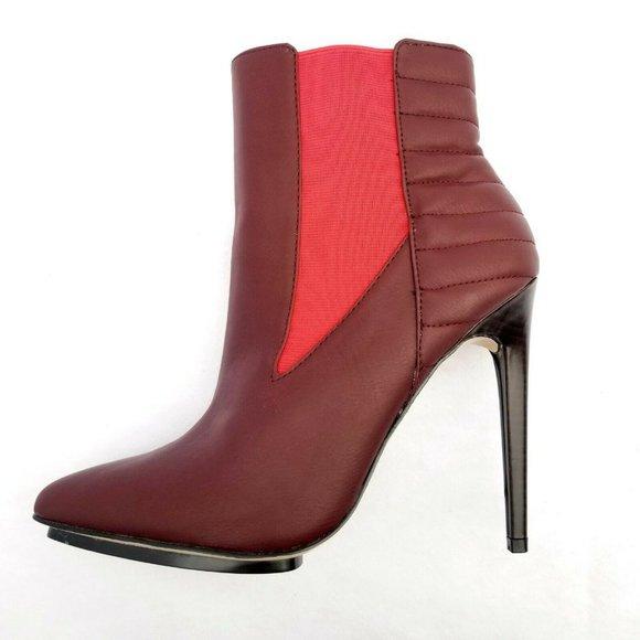 """GX by Gwen Stefani Size 9 Bordeaux Red 5"""" Heels"""